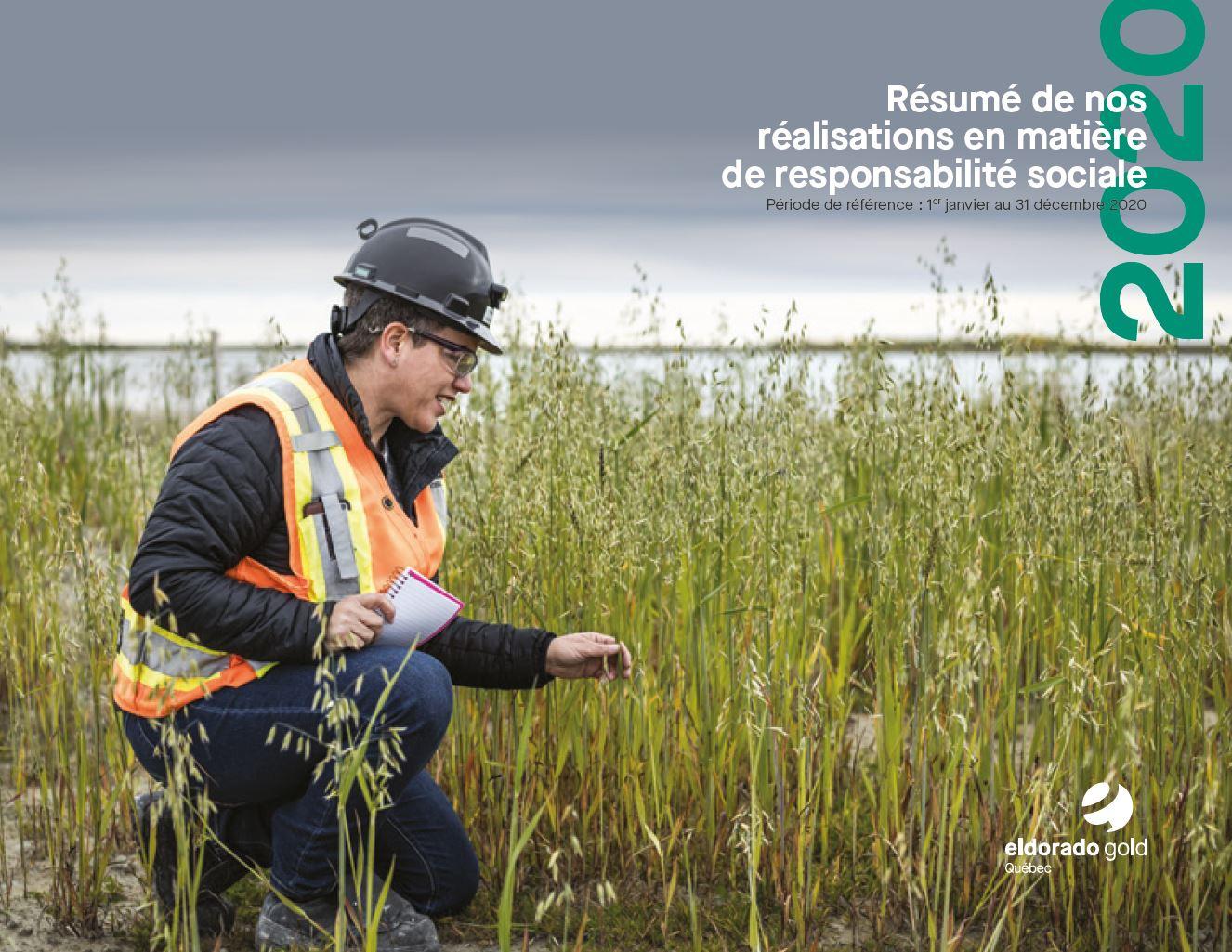 Résumé de nos réalisation responsabilité sociale