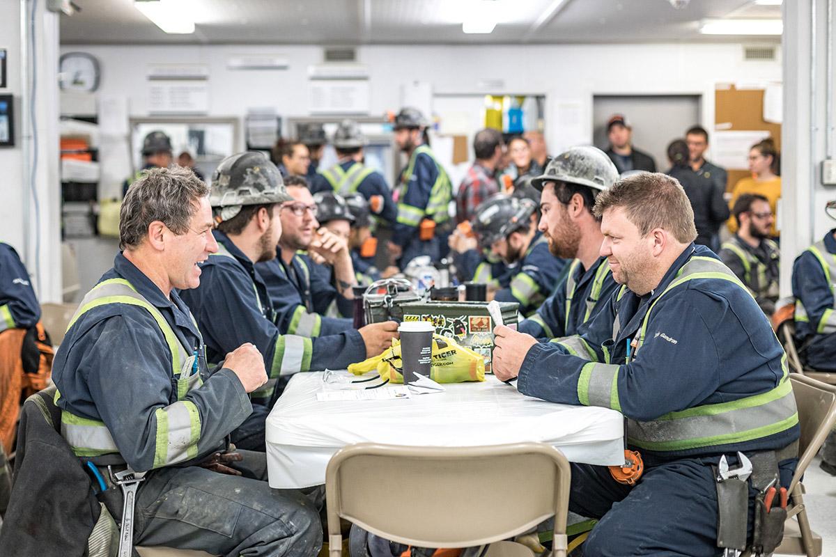 Travailleurs diner - Eldorado Gold Québec